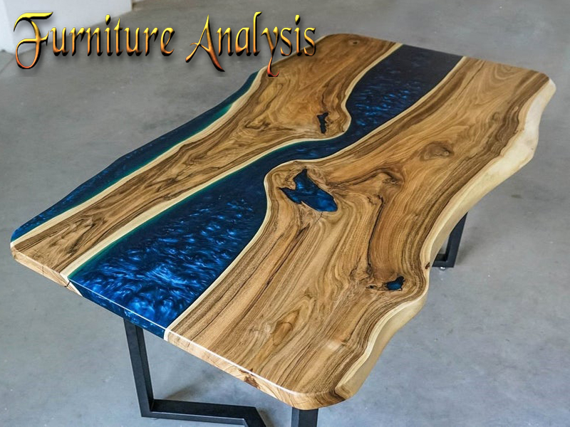 Epoxy Resin Blue River Dinning Table Top