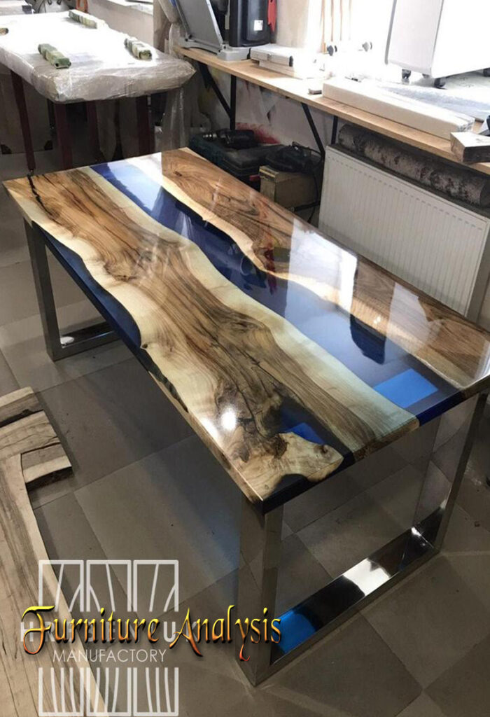Epoxy Resin Dining table with river table top