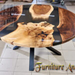 Epoxy resing Round table for living room sofa custom size design color