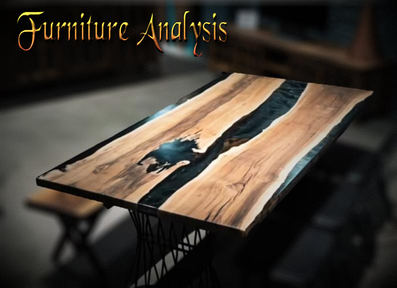 Live Edge Epoxy River Table, Dining Room Wood Table