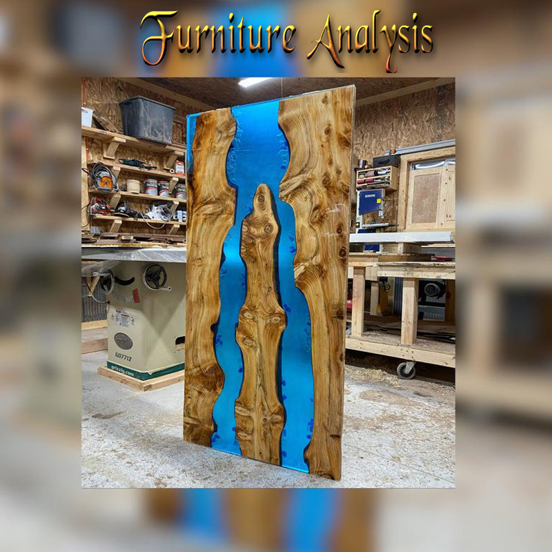 Luxurious blue Epoxy Resin River Table
