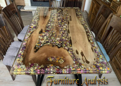Wood and resin dining rustic table Epoxy Wood Resin Clear Table